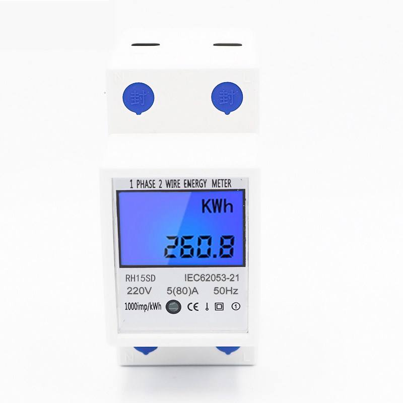 Good Quality and Low Price Electronic DIN rail type Active power meter with LCD display
