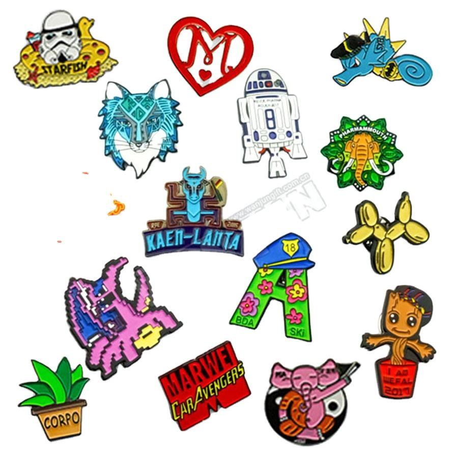 Factory Pin Custom Made Cartoon Hard Enamel Metal Pins Badges