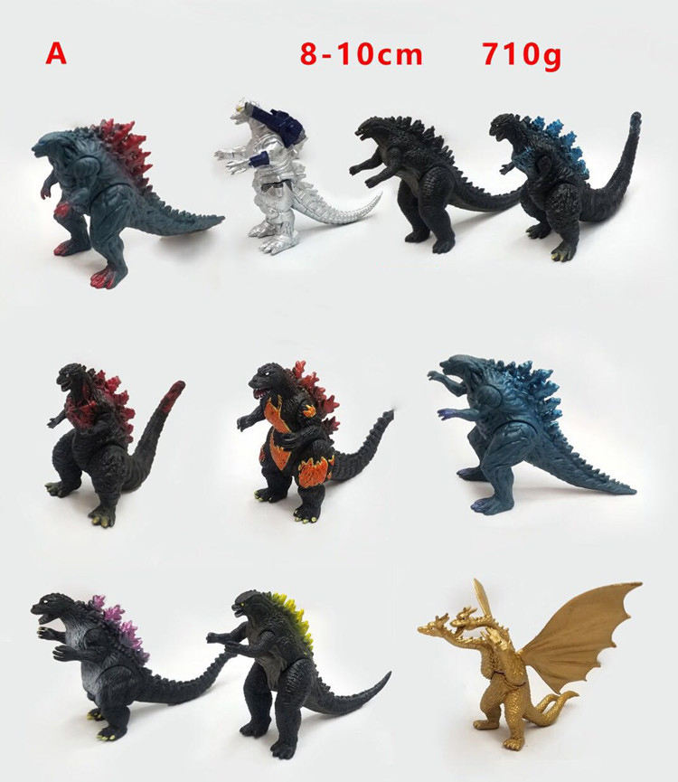 (Hot) Godzilla PVC Action Figure, 10pcs/set Godzilla toy, godzilla juguete Figurine doll for kids