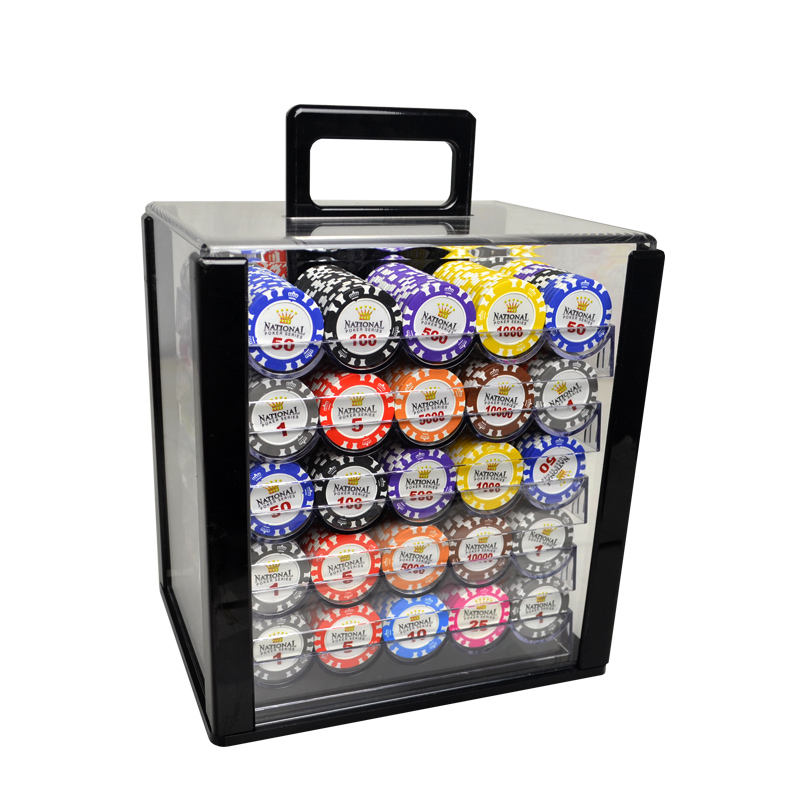 Wholesale14g clay 43mm poker chips 1000 pcs poker chip set with luxury case