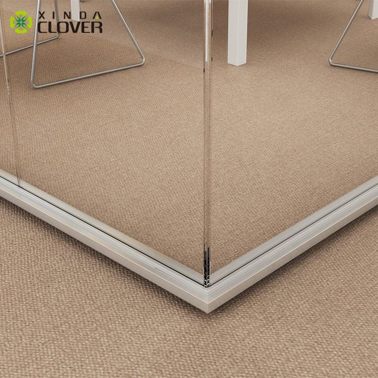 china foshan office furniture aluminium frame glass wall partition