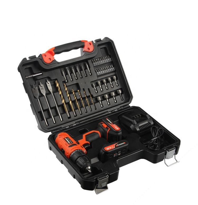 One-Stop Service Electric Drill Electric Drill FIXMAN Electric Tools 47PCS Lithium Power 12V Cordless Drill Set