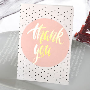 custom greeting card paper printing thank you card post card with envelope for wedding