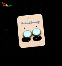 Hot Sale Charm Ear Cap Earring With Blue Wave Point For Girl