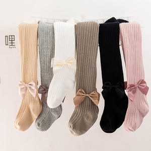 Wholesale baby cute princess pantyhose cotton bow cute wind kid girl tights