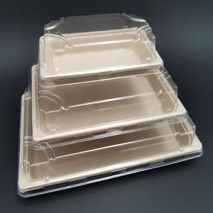 disposable biodegradable bagasse sushi food tray