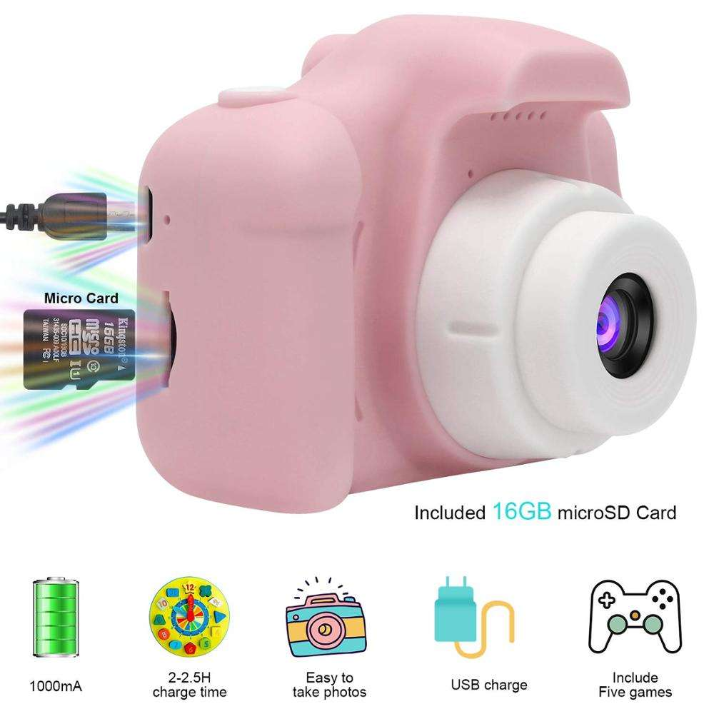 One-Stop Service CHRT Low Price Waterproof 2 Inch Fixed Focus Silicone Photo Camera Mini Kids Digital Toys for Baby Children Boys