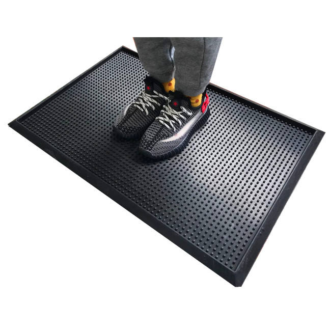 cheap rubber disinfection mat hot seller disinfecting door mat with tray shoes sanitizing floor mat for outdoor