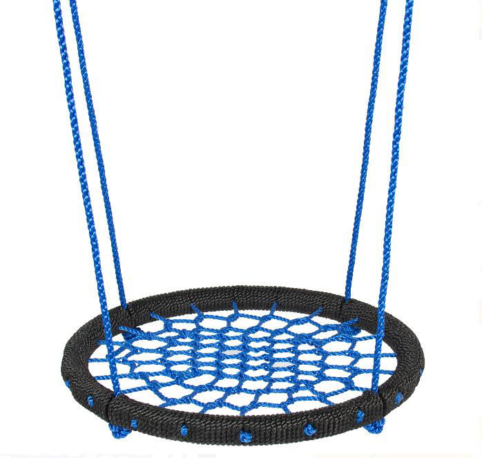 Factory price Easy to Install Spider web Platform Nylon Rope Swing Garden Outdoor Net Web Swing for kids
