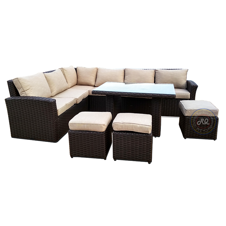 outdoor garden patio sofa set rattan wicker furniture