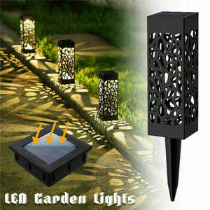 Ranpo Waterproof 8 LED Solar Lawn Light Pathway Outdoor Garden Lamp Decor Landscape Cool Warm White