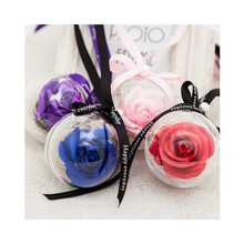 single rose Fresh flower ball pendant box artificial flowers decorative Christmas gift