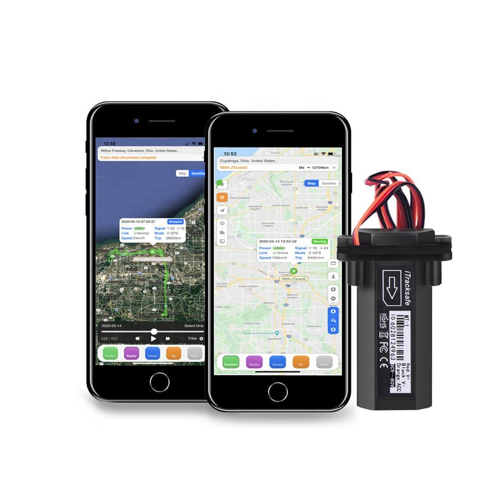GPS tracking system for motorcycle taxi scooter with built in antenna and support online gprs web based tracking software