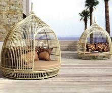 Outdoor furniture  Bird daybed wicker  birdcage rattan garden pool daybed