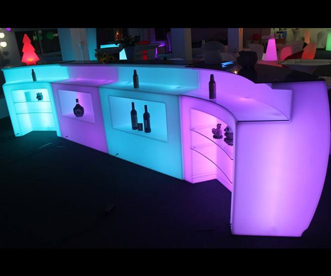 High Quality Bar furniture acrylic bar counter luminous LED bar counter top