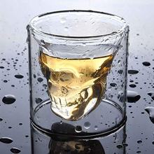 Wholesale Custom 3Oz Double Wall Borosilicate Glass Skull Shot Glasses