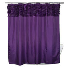 Decorative 3d leaves  purple shower curtain
