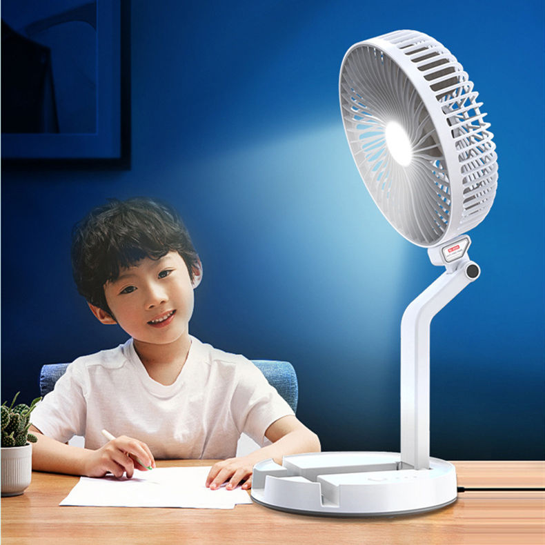 battery operated portable rechargeable fan with led light,Mini 7 inch Foldable Handheld Small Fan