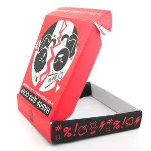 Jinayon Custom Red Color Logo Printing Mailer Box Corrugated Shipping Foldable Box Packaging