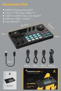 MAONOCASTER Carte Son Externe Portatif de Production Tout-En-Un Studio D'enregistrement Interface Audio