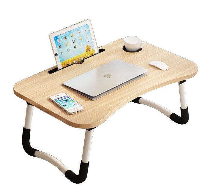 2020 Modern Design Home Working Multi-functional Folding Adjustable Portable Wooden Computer Table for Use Bedroom