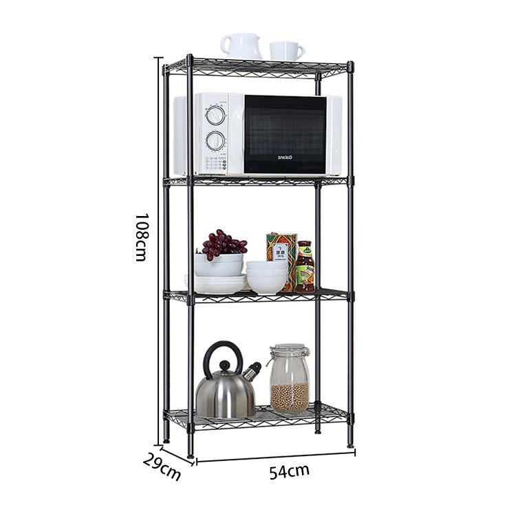 Eco-friendly 4 Tiers Design Wire Shelving Kitchen Storage Shelf