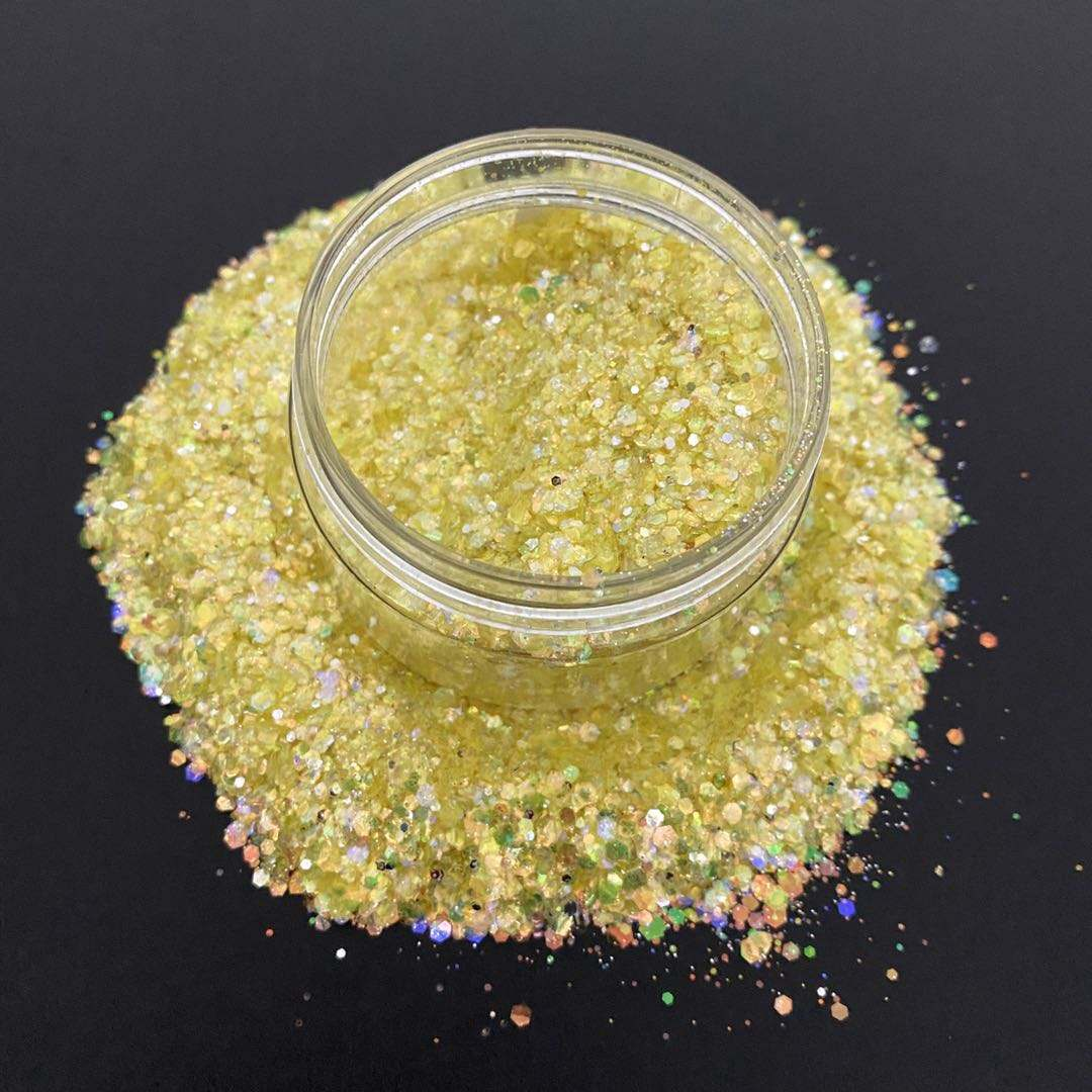 High Quality 2mm Crafts Rainbow Iridescent Mix Chunky Glitter For Cup Tumblers