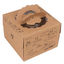 Brown Cupcake Boxes Cardboard  Product Paper Favor Box Packaging Design For Cake