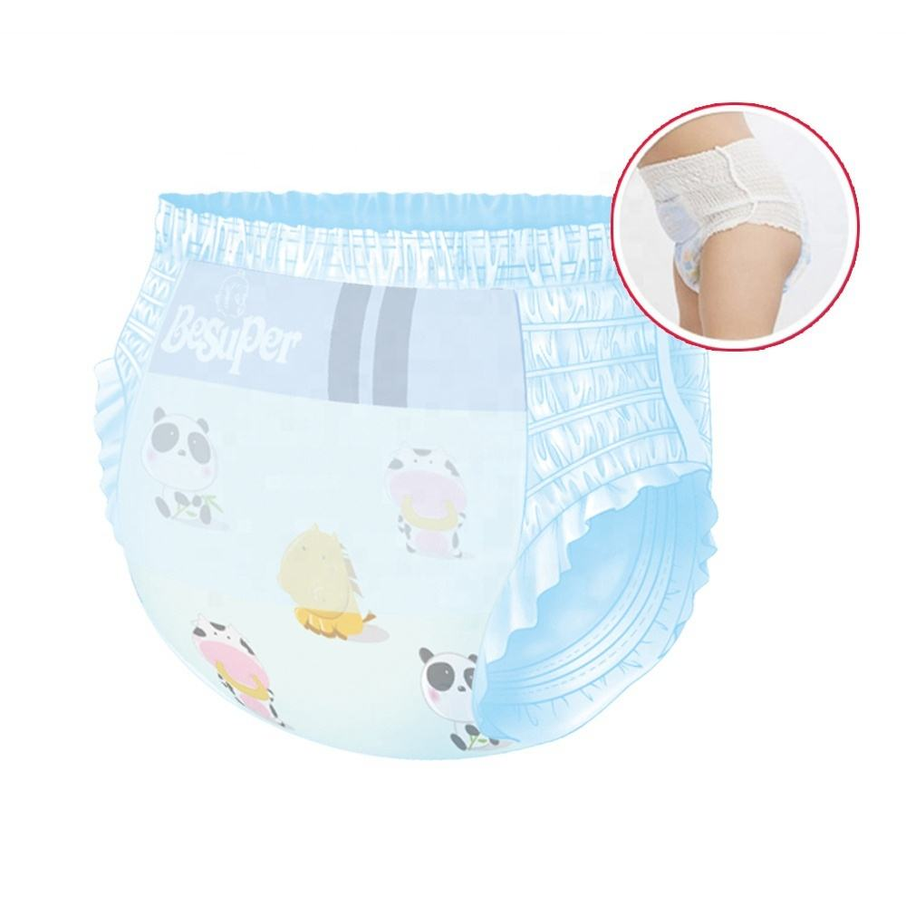 BESUPER soft cheap disposable pants baby diapers manufacturers in china