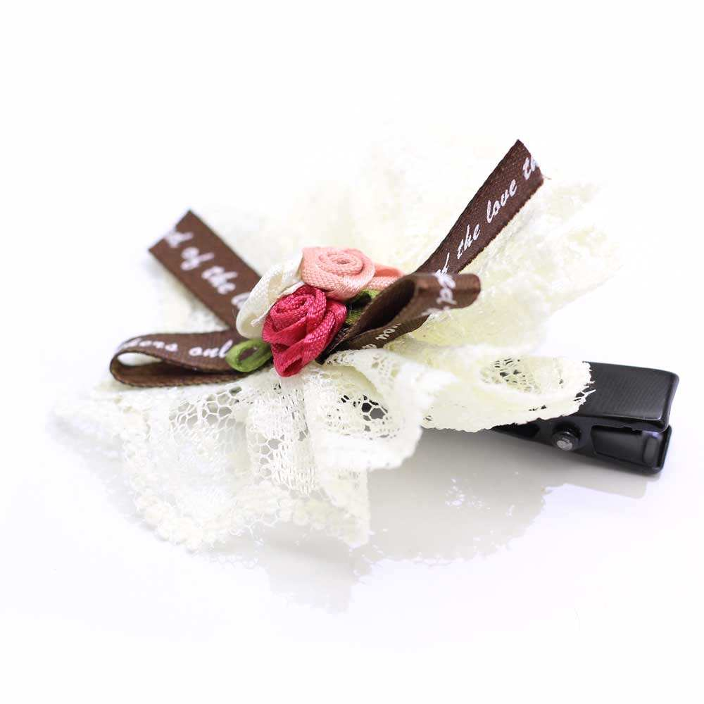 Classic Fabric Art Bow Style Flower Weave Decoration Double Layers Women Latest Hair Clip For Hair Ornament Accessories