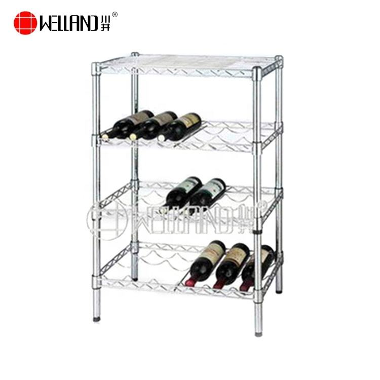 Chrome Wire Metal Bar Wine Cellar Shelf For Bottles,NSF Approvval
