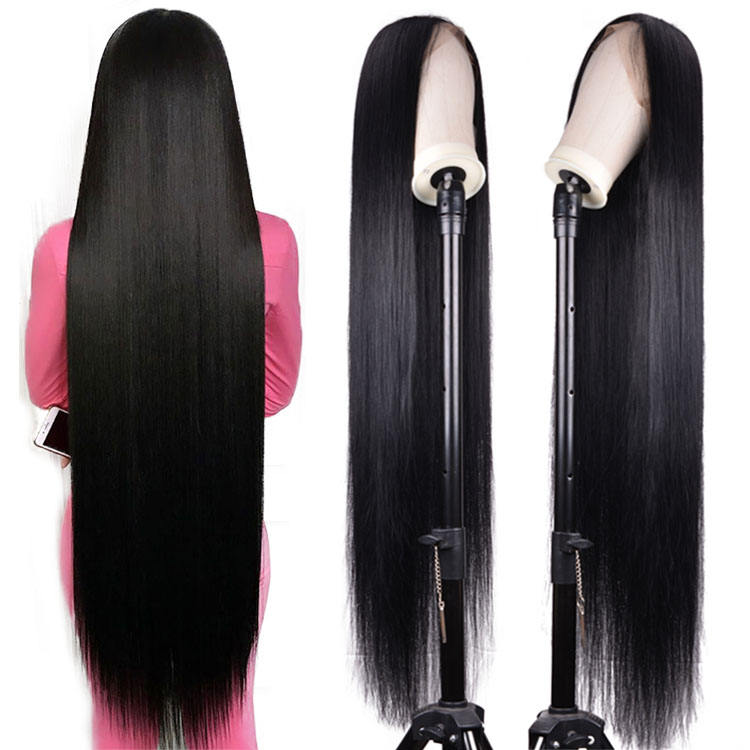 30 32 34 36 38 40 50 inch Human Lace Frontal Wig Vendors Straight Virgin Brazilian Lace Front Human Hair Wigs For Black Women