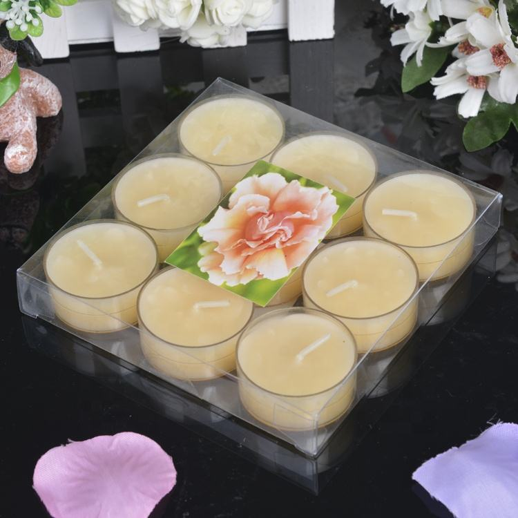 Custom Tealight Candles, Set of 9pcs Tealight Candles In PVC box, Colorful Tealight Candles flameless tea lights