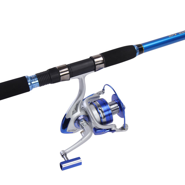 Newbility telescopic portable fishing reel rod combo stainless steel guides fishing rod and reel set for freshwater saltwater
