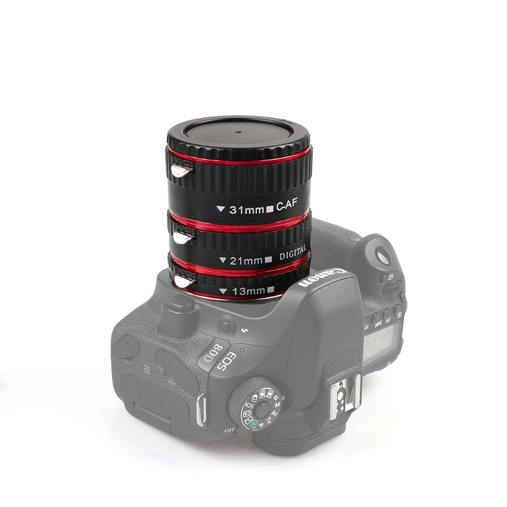 Kaliou 13mm 21mm 31mm אוטומטי פוקוס מאקרו הארכת הגדר עבור Canon EF EF-S עדשת Canon 700d t5i 7d 5d שחור אדום כסף צבע