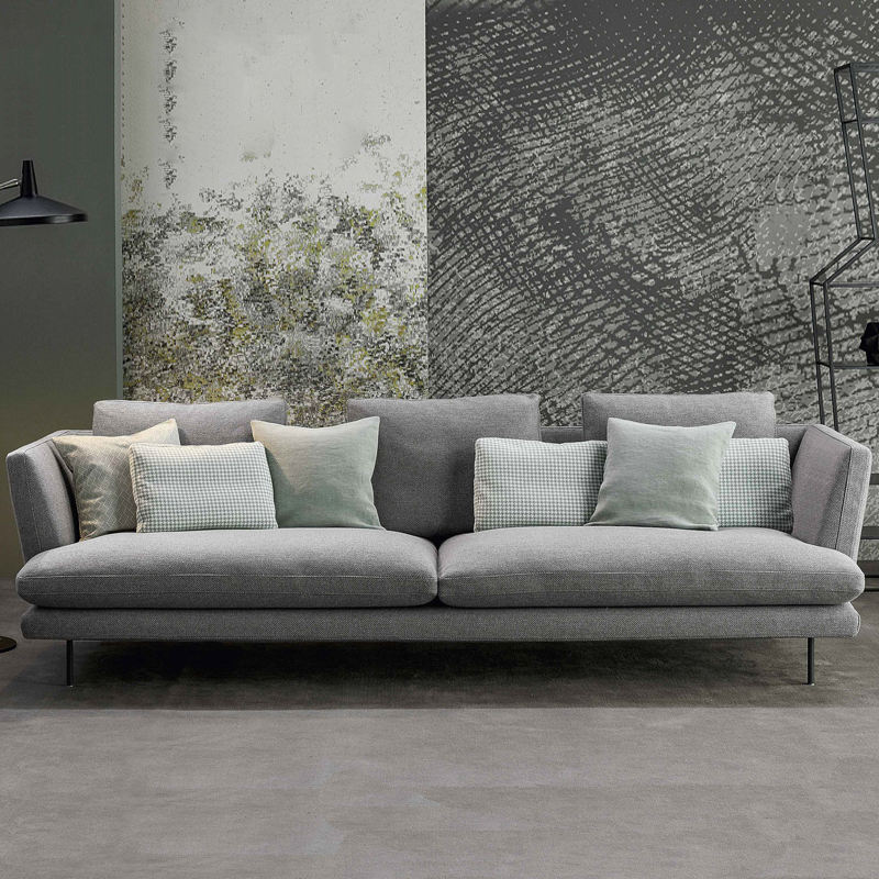 Woonkamer L Shape Corner Grijze Stof Sofa Links Of Rechts Chaise Bank