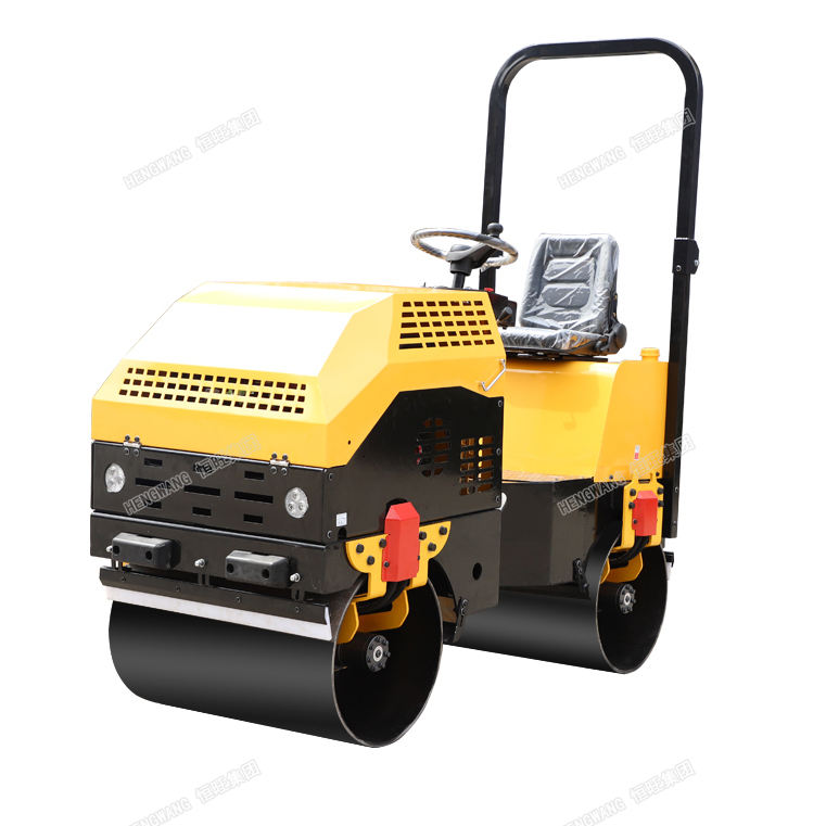 2 ton asphalt roller for sale ride on double drum Vibratory road roller