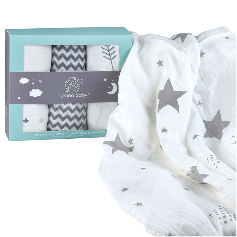 Breathable unisex baby swaddle blanket soft baby blanket with low price