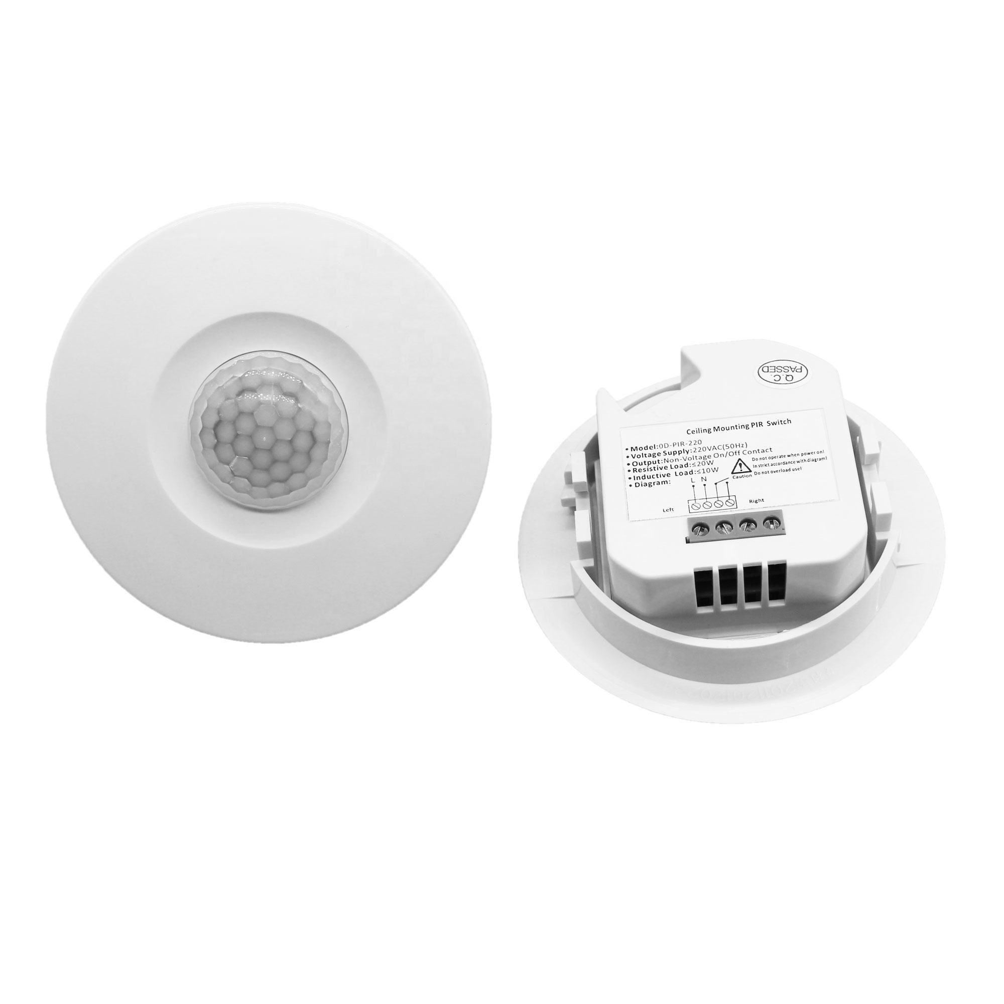 24V Dry Contact Output Ceiling Mounted 360 Degree Pir Motion Sensor