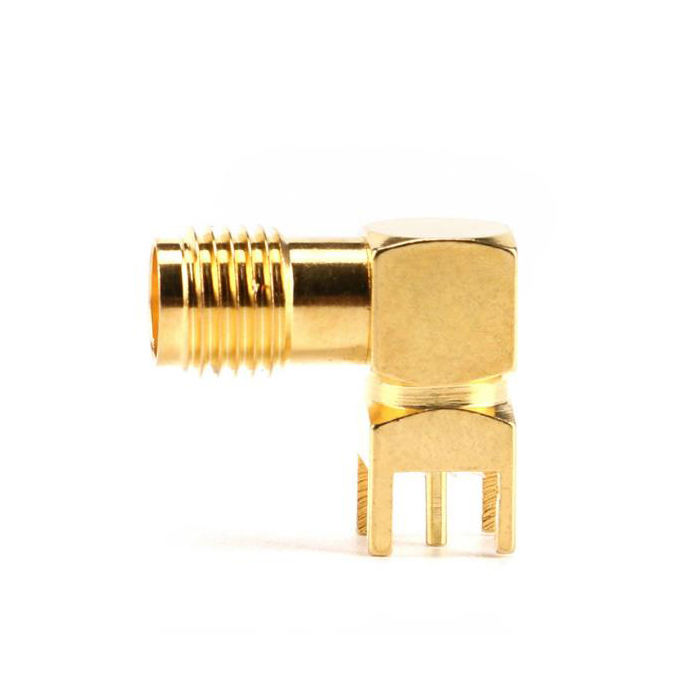 Right Angle 90 Degree ( SMA-KWE ) PCB Mount Connector RF Adapter SMA Female Thru Hole plug Connector