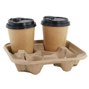 Disposable Paper Hot Cups with Coffee Cup Holder
