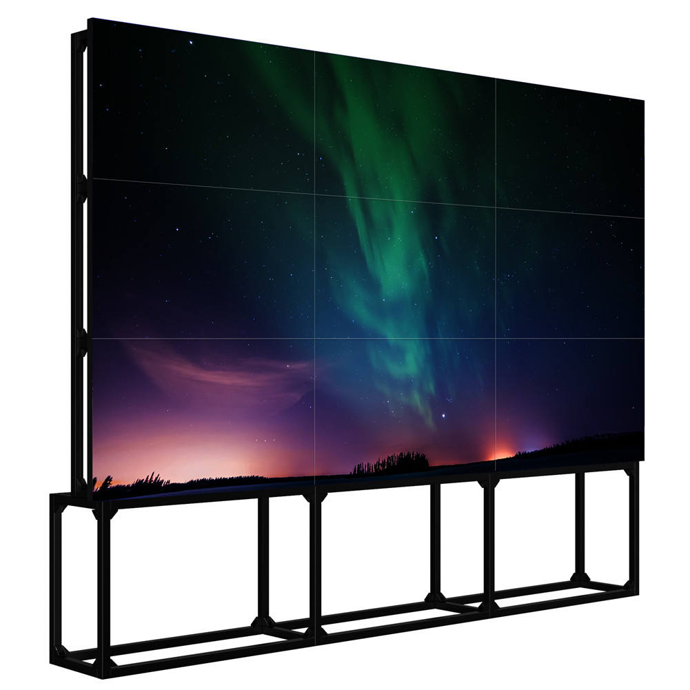 46/49/55/65 inch video wall display 2*2 2x3 3*3 HD LCD TV Muur LCD Video Wall Displays met 1.8/3.5/5.5mm bezel LG/Samsung Panel