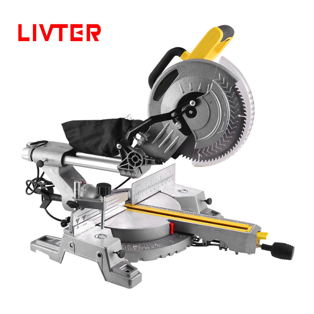 LIVTER professional industrial aluminum cutting power mitre saw machine sliding miter saw with copper motor