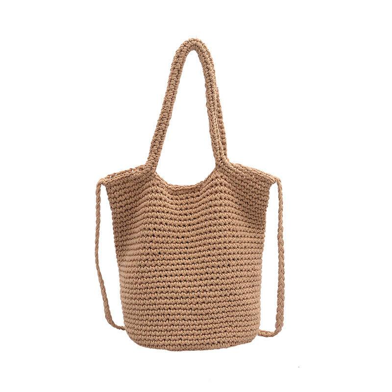 SODIAL Fashion Summer Bag Beach Woven Handbag Lady Lafite Messenger Bag Handbag Shopping Bag Wallet
