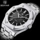 Benyar 5156 new design China male quartz watch authentic Stainless steel band square date display Concise Casual wrist watch