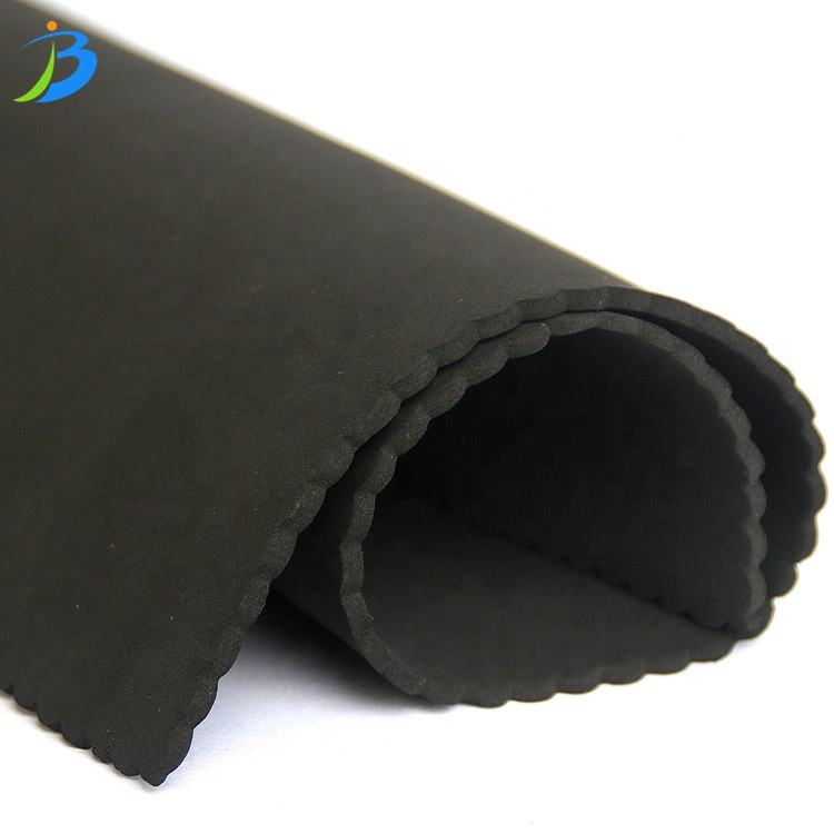 Jianbo Factory Wholesale 2mm Waterproof Smooth haut Soft Black CR neopren gummi rolle für Diving anzug/Protector/Clothing