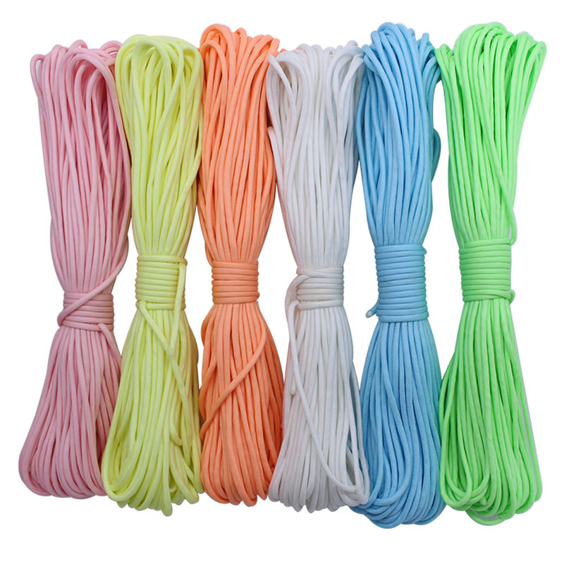 9 Strang Glow in the Dark Leuchtendes Nylon Paracord Rope Survival 4mm 100ft