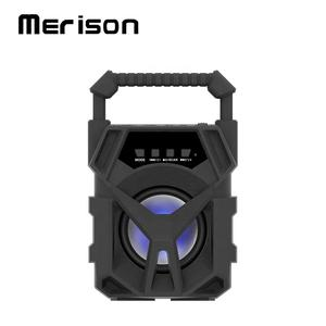 Handle bar portable artist radio led bluetooth karaoke cube speaker support tf card for party