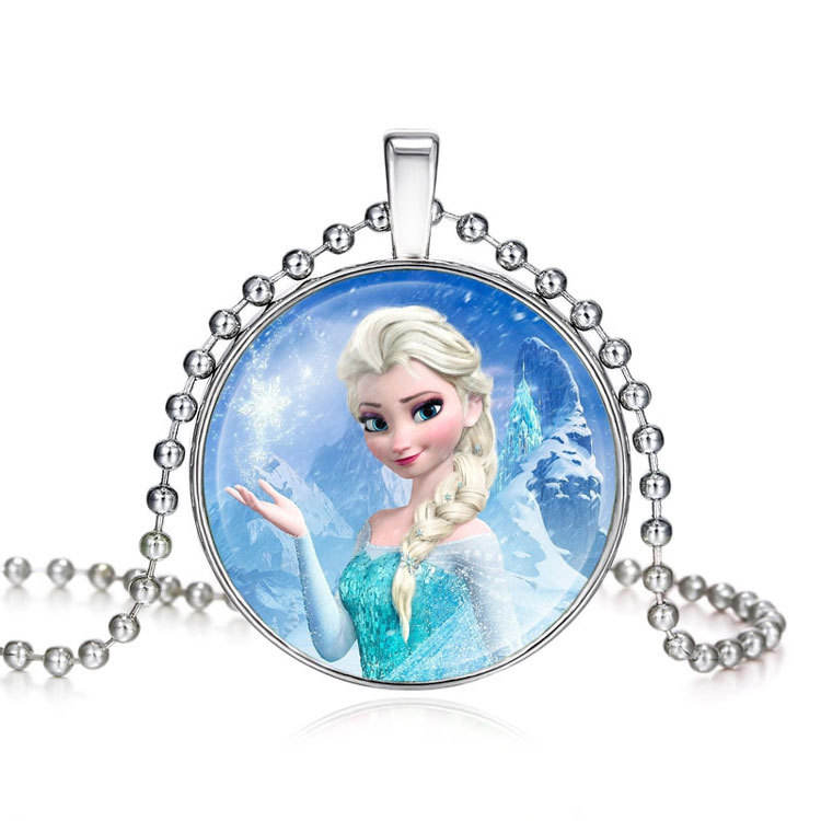 SAF wholesale hot selling fashion simple fashionable Princess chunky kid pendant necklace jewelry for girl