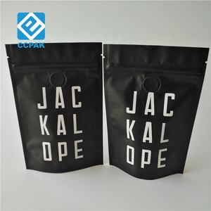 8oz 12oz Doy pack aluminum foil Zip lock coffee beans packaging bag with degassing valve